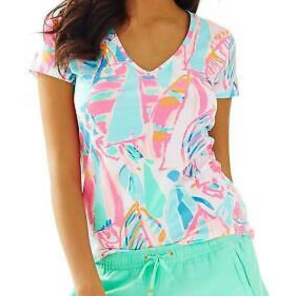 67382a63a339a9 Lilly Pulitzer Tops | Last Chance Michele V Neck Tee | Poshmark